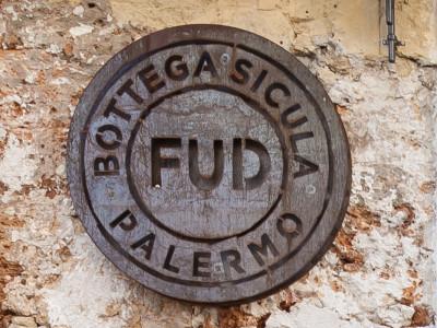 Realizzazione ristorante FUD-Bottega-Sicula-Palermo-INSEGNA-ESTERNO