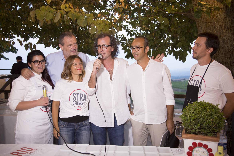 Salvo Camuti con Andrea Graziano, Marco Nicolosi e lo chef Gianfranco Vissani
