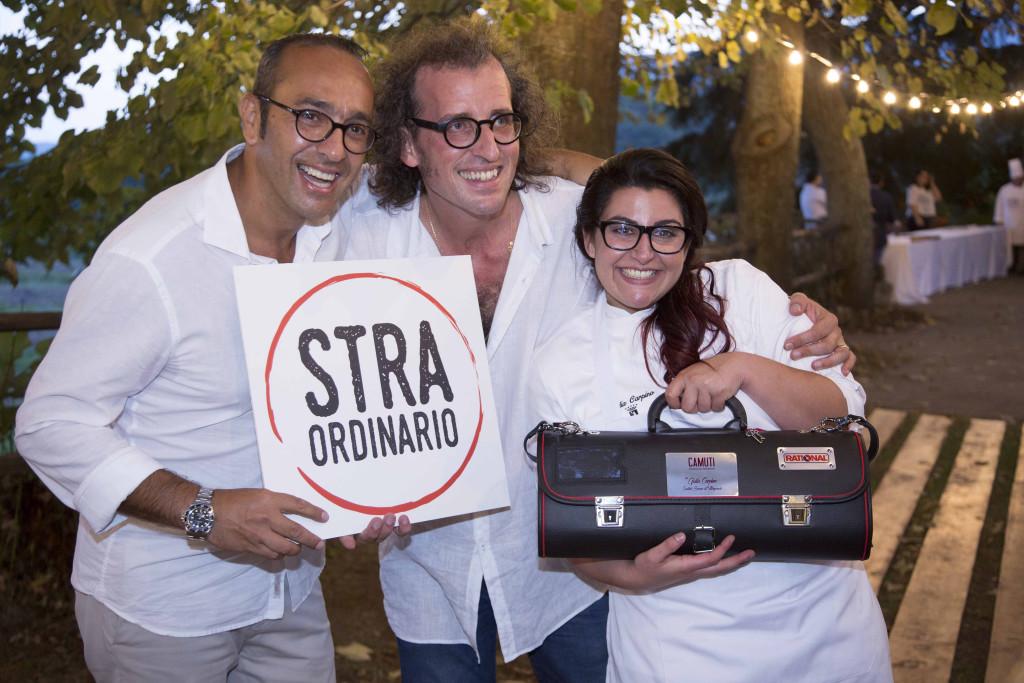 Salvo Camuti con Andrea Graziano e Giulia Carpino